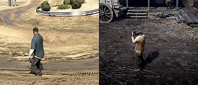 Фанат сравнил графику GTA 5 и Red Dead Redemption 2. Разница колоссальная (видео)