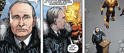 В комиксе про Супермена появился Путин, объявивший войну США на Красной площади