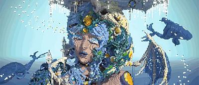 Парень создал невероятно красивую скульптуру в Minecraft, которая поражает количеством деталей