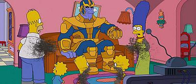 В новой серии «Симпсонов» Танос уничтожил знаменитую семейку — видео