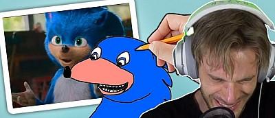 PewDiePie перерисовал дизайн Соника из фильма. Кто-то хотел купить этот рисунок за 850 млн рублей