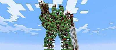 Неординарные изобретения игроков Minecraft — машина без модов, стреляющий динамитом робот и компьютер
