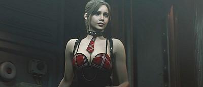 Моддеры переодели Клэр из Resident Evil 2 в костюм студентки. На героине только чулки и коротенькое платье (18+)