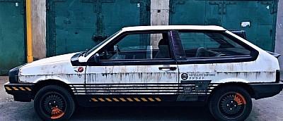 Житель Екатеринбурга сделал тюнинг автомобиля в стиле Cyberpunk 2077