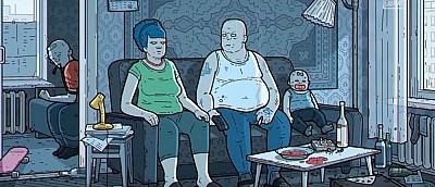 Художник показал, как выглядели бы «Симпсоны», если бы герои мультсериала жили в России (видео)