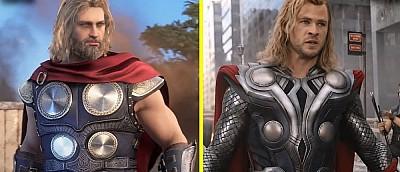 Персонажей игры Marvel's Avengers сравнили с героями из фильма «Мстители» — видео