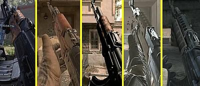 Стрельбу из АК-47 и другого оружия сравнили во всех частях Call of Duty: Modern Warfare