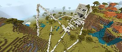 Фанаты Minecraft придумали новое развлечение. Они создают скелеты гигантов