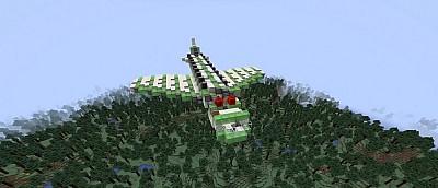 Фанат Minecraft построил самолет из слизи и поршней. Он летает, но очень странно — видео