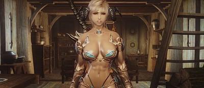 Моддер добавил в Skyrim «прыгающую» грудь и физику женских ягодиц (18+)