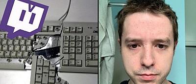 Стример в нервах разбил клавиатуру об голову, а потом получил бан в Twitch — видео