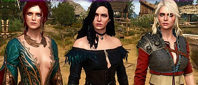 Моддер улучшил модели героинь The Witcher 3 и показал их голыми — скриншоты
