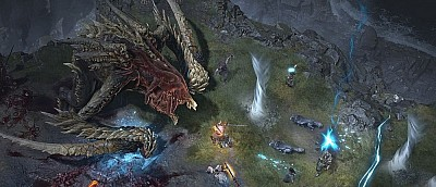 Очень много геймплея Diablo 4 — огромный босс, драки и литры крови