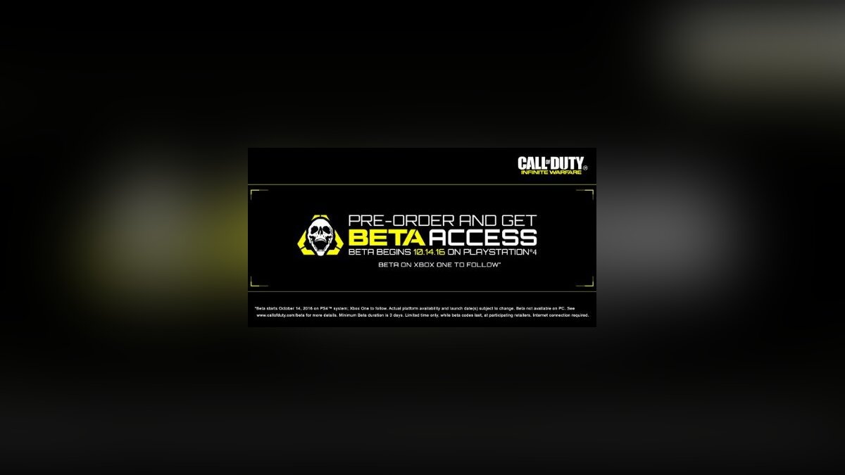 Бета-тест Call of Duty: Infinite Warfare на PS4 начнется в октябре