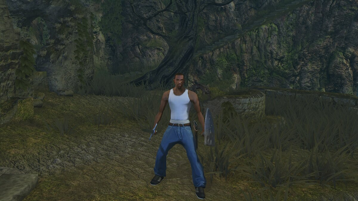 В Dark Souls Remastered добавили Сиджея из GTA: San Andreas