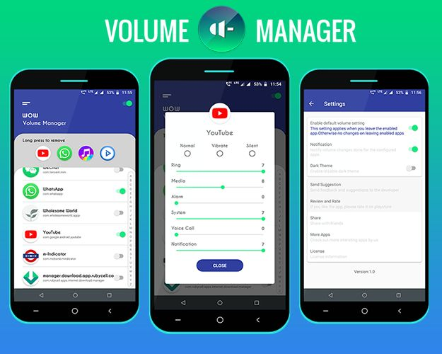 WOW Volume Manager — App volume control